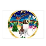 XmasMusic 3/ St Bernard #1 Postcards (Package of 8