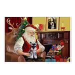 Santa's Schnauzer pup Postcards (Package of 8)