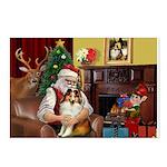 Santa's Sheltie (SW) Postcards (Package of 8)
