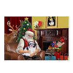 Santa's Shih Tzu (#1) Postcards (Package of 8)