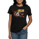 Santa's Shih Tzu (#1) Women's Dark T-Shirt
