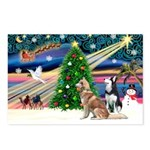 Xmas Magic & S Husky Postcards (Package of 8)
