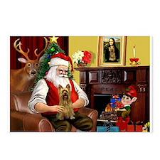 Santa's Silky Terrier Postcards (Package of 8)