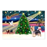 XmasMagic/Silky Terrier Postcards (Package of 8)