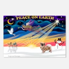 XmasSunrise/Tibetan Spaniel Postcards (Package of