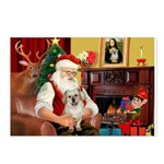 Santa/Tibetan Spaniel Postcards (Package of 8)