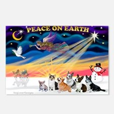 XmasSunrise/6 Corgis Postcards (Package of 8)