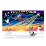 XmasSunrise/Corgi (BM) Postcards (Package of 8)
