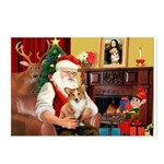 Santa's Corgi (#3P) Postcards (Package of 8)