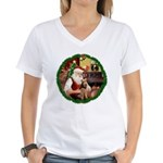 Santa's Welsh T Women's V-Neck T-Shirt