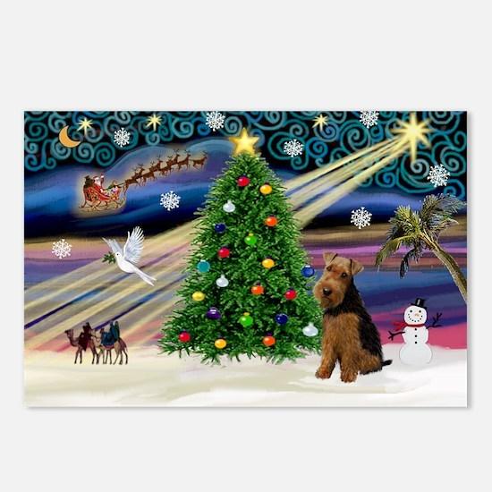 XmasMagic/Welsh Terrier Postcards (Package of 8)
