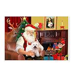 Santa's Westie Postcards (Package of 8)