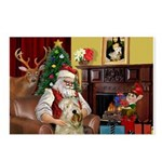 Santa's Wheaten (#7) Postcards (Package of 8)