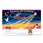 XmasSunrise/Yorkie 17 Postcards (Package of 8)