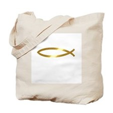 Cute Christian fish Tote Bag