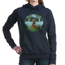 Birches - Airedale 1.png Women's Hooded Sweatshirt