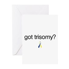 Got Trisomy? w/ DS Ribbon Greeting Cards (Package
