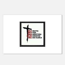 SOLA GRATIA, SOLA FIDE, S Postcards (Package of 8)