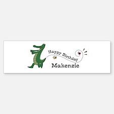 Happy Birthday Makenzie (gato Bumper Bumper Bumper Sticker