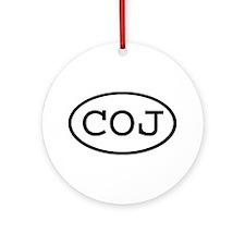 COJ Oval Ornament (Round)