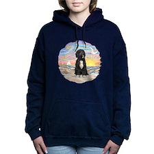 OceanSunrise-PWD5bw.png Women's Hooded Sweatshirt