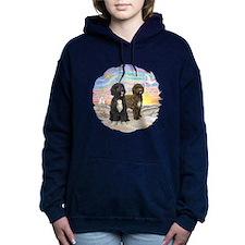 OceanSunrise-Two PWDs.png Women's Hooded Sweatshir