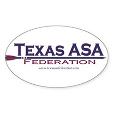 Texas ASA Federation Oval Decal