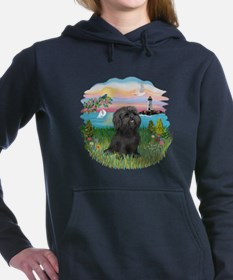 LightHouse-Black Shih Tzu.png Women's Hooded Sweat