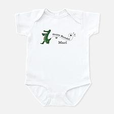 Happy Birthday Maci (gator) Infant Bodysuit