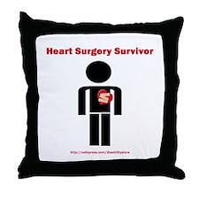 Heart Surgery Surviver Throw Pillow