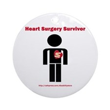 Heart Surgery Surviver Ornament (Round)