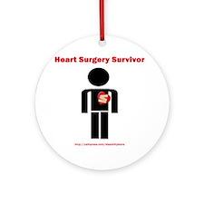 Heart Surgery Surviver Ornament (Round)