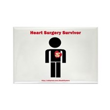 Heart Surgery Surviver Rectangle Magnet