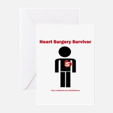 Heart Surgery Surviver Greeting Cards (Package of