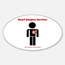 Heart Surgery Surviver Oval Decal