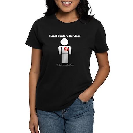 Heart Surgery Surviver Women's Dark T-Shirt