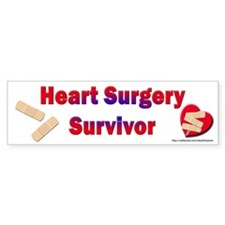 Heart Surgery Surviver Bumper Bumper Sticker
