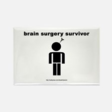 Brain Surgery Survivor Rectangle Magnet