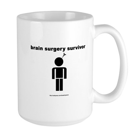 Brain Surgery Survivor Large Mug