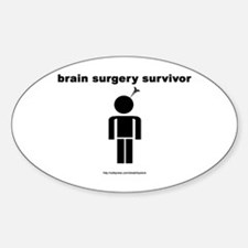 Brain Surgery Survivor Oval Decal
