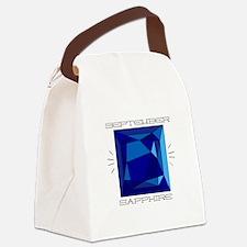 September Sapphire Canvas Lunch Bag