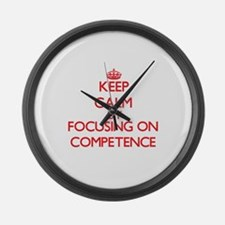 Competence Large Wall Clock
