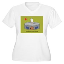 Working From Home Plus Size T-Shirt