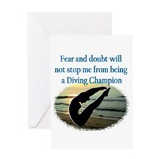 INSPIRING DIVER Greeting Card