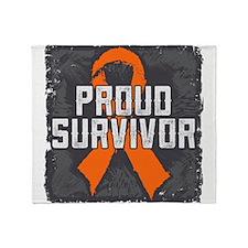Proud Kidney Cancer Throw Blanket