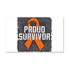 Proud Kidney Cancer Car Magnet 20 x 12