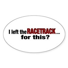 Racetrack Oval Stickers