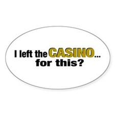 Casino Oval Decal