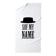 Heisenberg Say My Name Beach Towel