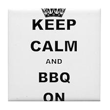 KEEP CALM AND BBQ ON Tile Coaster